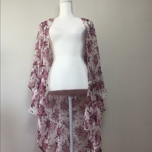Live 4 Truth Floral Sheer Long Cardigan